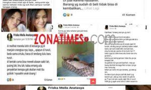 Posting Friska Meila Anatasya di akun Facebook cerita tentang ibu hingga berniat menjual karena sakit-sakitan (Foto: Screenshot Facebook/zonatimes.com)