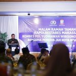 Iqbal Suhaeb saat sambutan di acara ramah tamah Kapolrtabes Makassar (Foto:Humas/zonatimes.com)