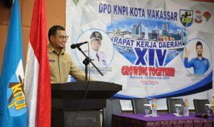 Sambutan Iqbal Suhaeb saat menghadiri acara rapat kerja KNPI Makassar (Foto:Tajuk/zonatimes.com)