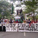 HMI Tarbiyah dan Keguruan UIN Alauddin Makassar cabang Gowa Raya peringati Hari Anti Korupsi (Foto: Syukur/zonatimes.com)