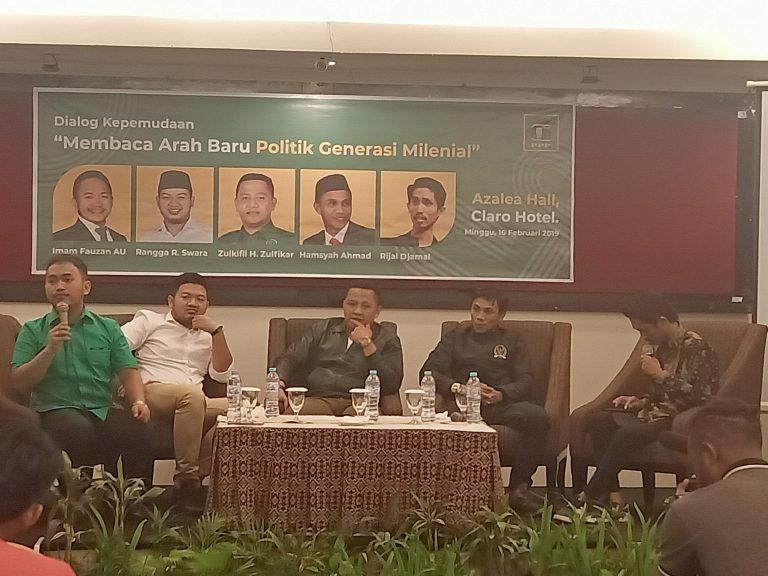 Diskusi Milenial, Imam Fauzan Uskara Ketua Fraksi PPP DPRD Sulsel (Foto:Ist)