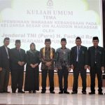 Menteri Agama, Fahchrul Razi dan jajaran Pimpinan UIN Alauddin Makassar (Foto:Fadlan)