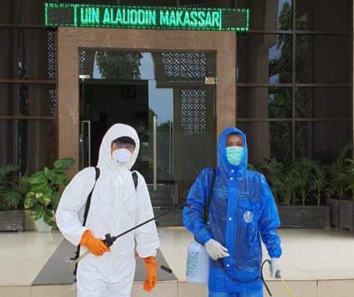 Tim Satgas Penanggulangan Covid-19 UIN Alauddin Makassar (Foto: Ist)