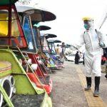 Penyemprotan disinfektan di sejumlah titik di kabupaten Gowa (Foto:Ist)