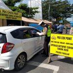 Perbatasan Makassar Takalar kecamatan Galesong Utara dijaga ketat aparat keamanan