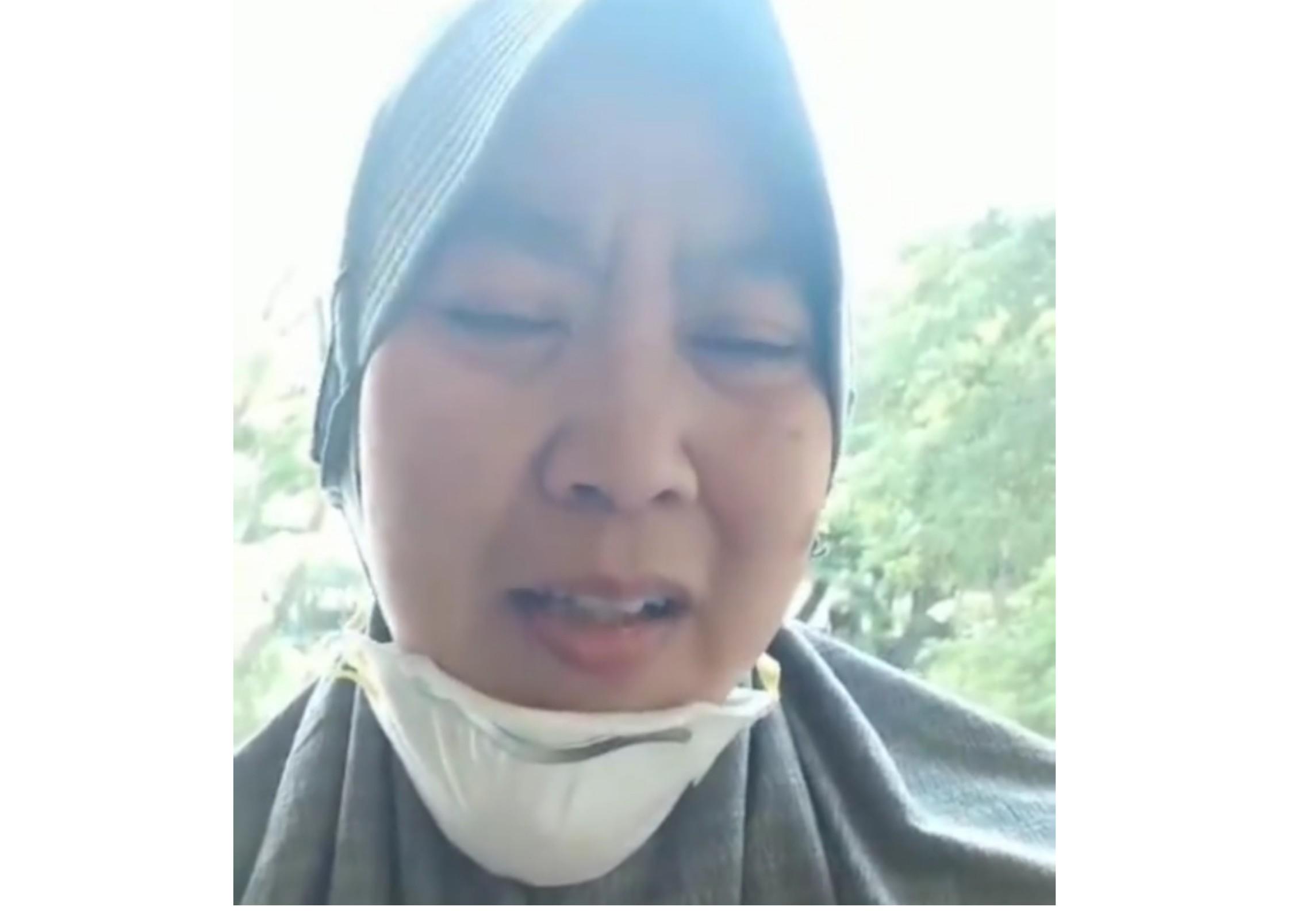 Novita Burhan pasien sembuh Covid-19 asal dari Sidrap (Foto: screenshot/Ist)