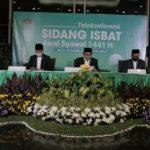 Sidang isbat yang dipimpin Menteri Agama Fachrul Razi, di Kantor Kementerian Agama Jalan MH Thamrin No. 6, Jakarta, Jumat (22/05/2020).