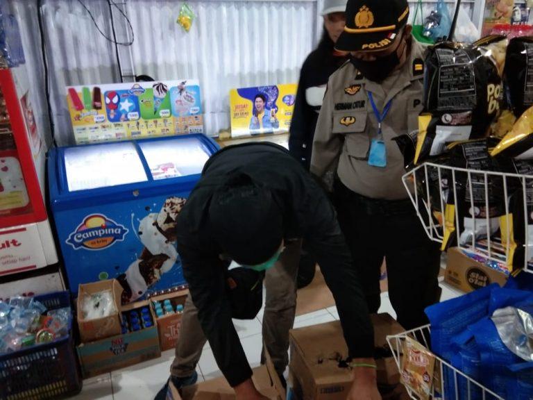Polsek Tinggimoncong Gowa periksa kios-kios