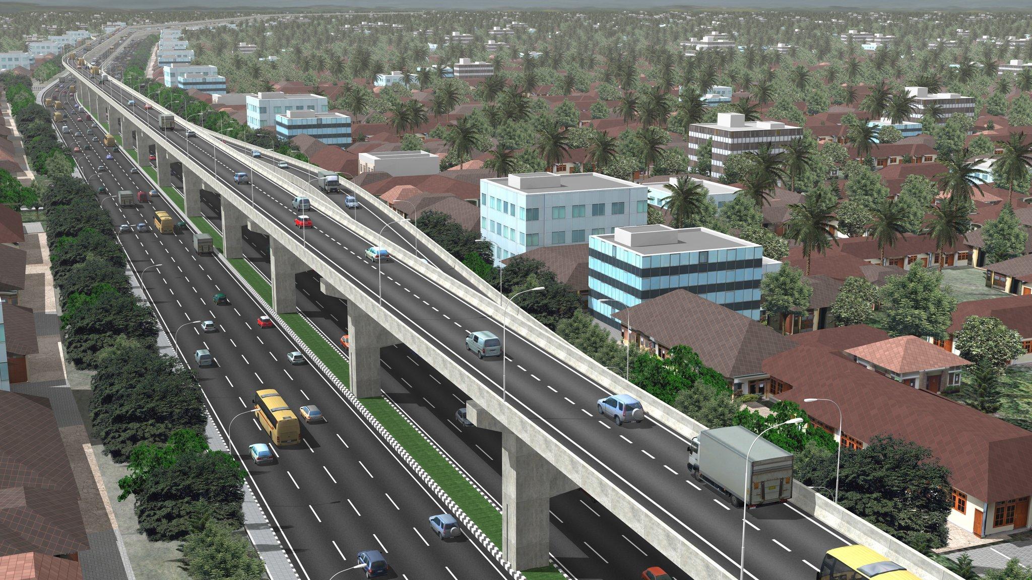 Gambar jalan Tol layang AP Pettarani kota Makassar (Foto: @infotolmakassar)