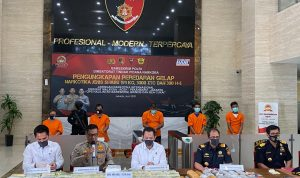 Direktorat Tindak Pidana Narkoba Bareskrim Polri ungkap peredaran sabu jaringan Malaysia Indonesia (Foto: Ist)
