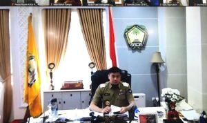 Bupati Gowa, Adnan saat memimpin Coffee Morning Pimpinan SKPD Lingkup Pemkab Gowa, Senin (20/7/2020).