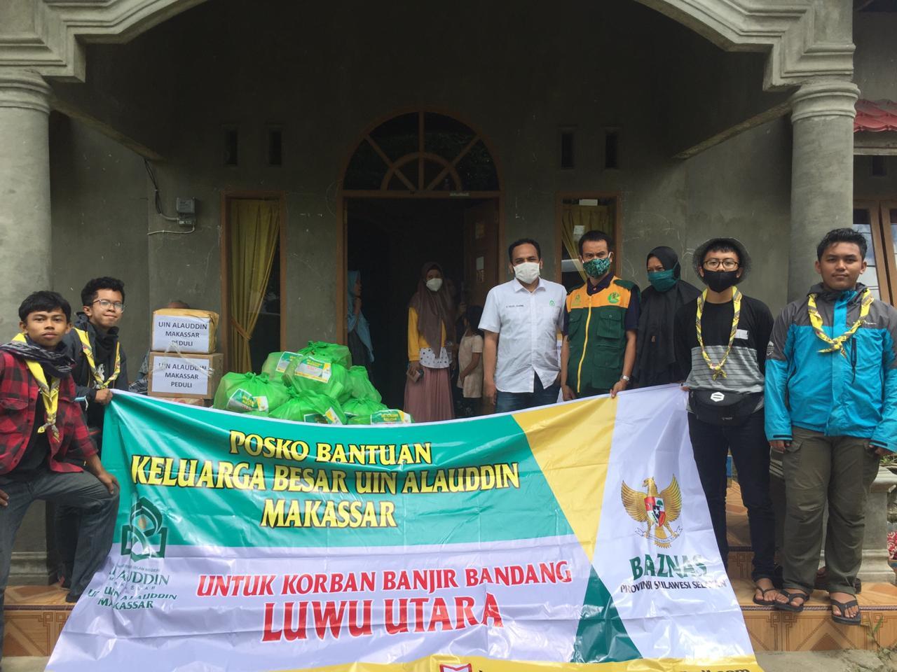 UPZ UIN Alauddin Makassar salurkan bantuan untuk korban banjir bandang Masamba Luwu Utara