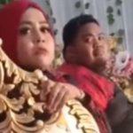 Tangkapan Layar Video Viral Geger Istri Jijik Lihat Suami di Pelaminan, Ternyata Hanya Drama Kru Pernikahan (TikTok/@viqar69).