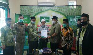 Pengurus Cabang Nahdlatul Ulama (PCNU) Kota Makassar menerima kunjungan Pasangan Calon Walikota dan Wakil Walikota Makassar H. Munafri Arifuddin dan H. Abd Rahman Bando.